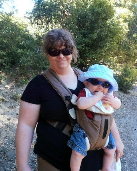 He likes hiking!