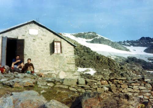 The Old Scavarda Shelter at Morion ... (burnt) ... 1973