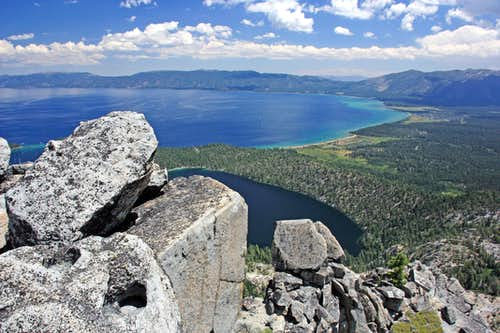 Lake Tahoe and Cascade Lake from Maggies South Peak