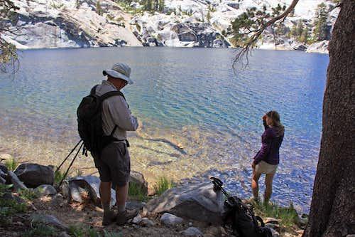Pat and Cedar at Azure Lake