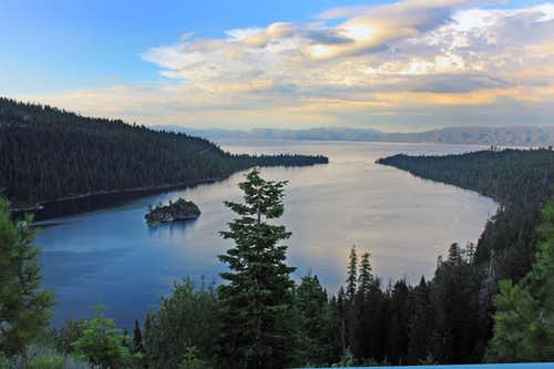 Emerald Bay at dusk