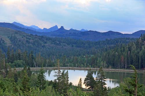 Peaks above Red Lake near Carson Pass