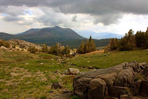 Heavy skies over Red Lake Peak