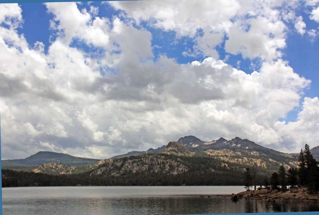 Elephants Back, Round Top and The Sisters from Caples Lake