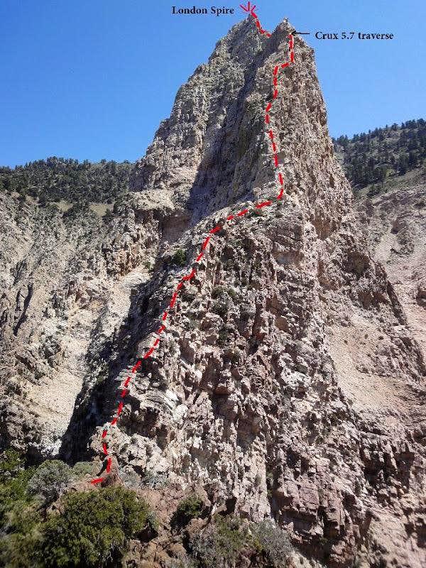 London Spire SW Ridge Route