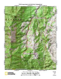 Mount Hamilton (NV) map