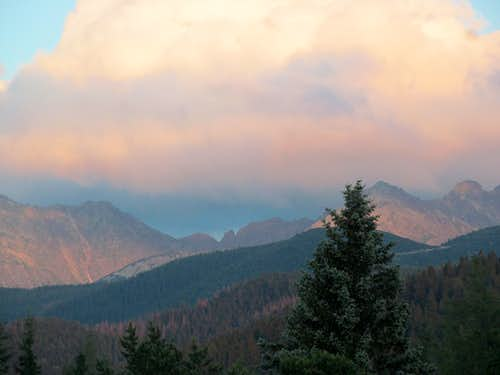 Tatry Mountains During Sunset