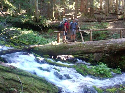 Crossing the Sol Duc