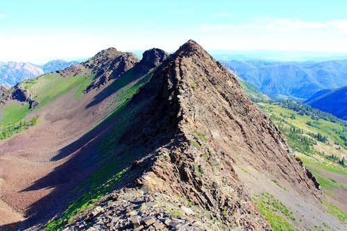 Looking north at the Cardiac Ridge.