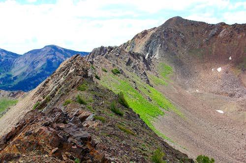 The Cardiac Ridge from Peak 10,820.