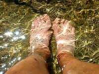 Feet Soaking at Marie Lake