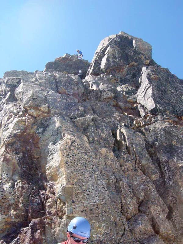Mount Olympus summit block - north face