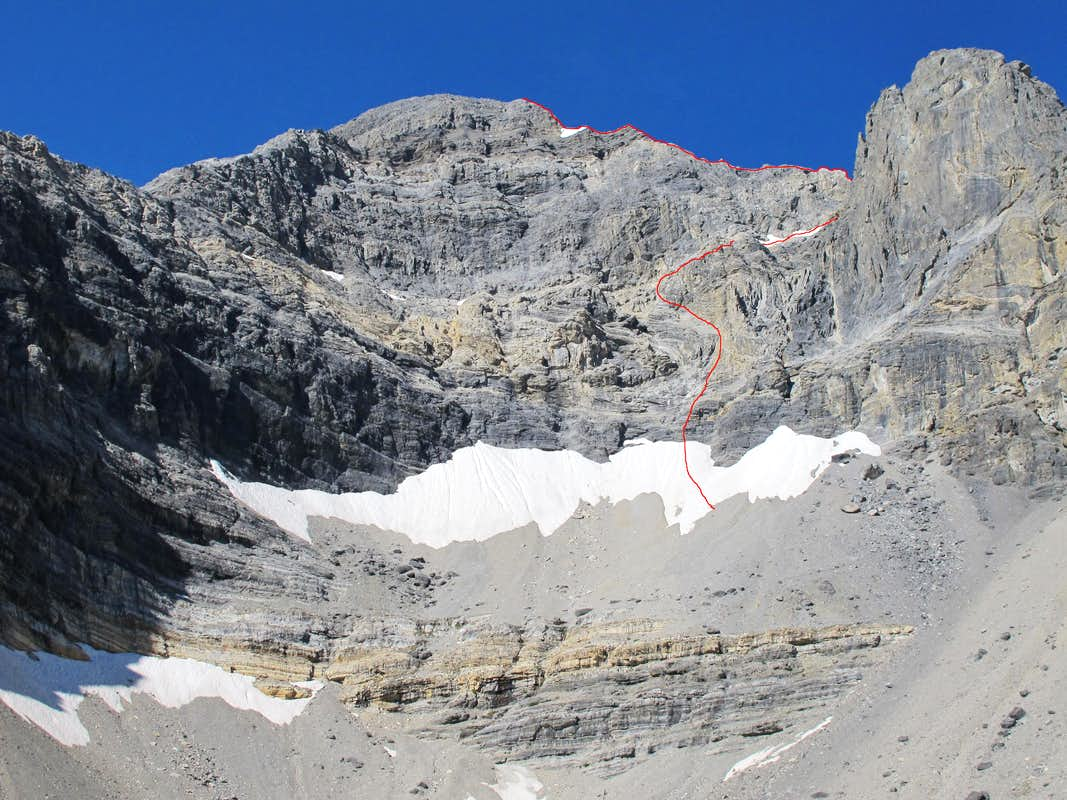 East Face Route Photo