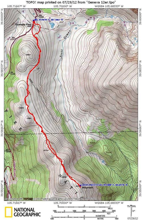 Geneva Mountain, north ridge