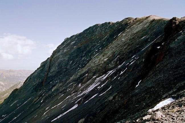 Ascending the north ridge...
