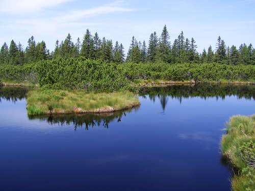 The largest lake of Lovrenška jezera