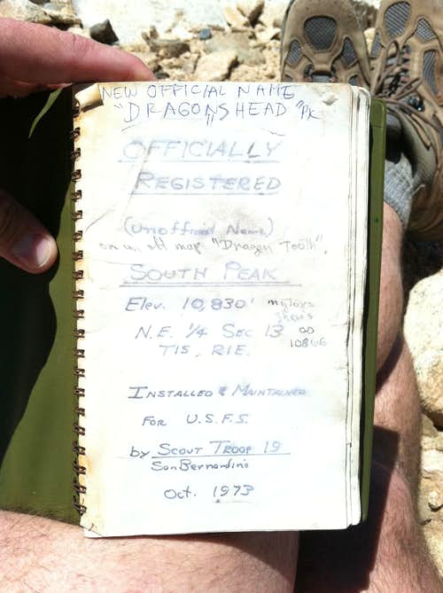 Old Summit Register