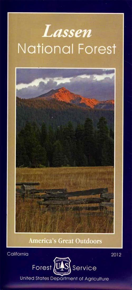 Lassen NF visitor map
