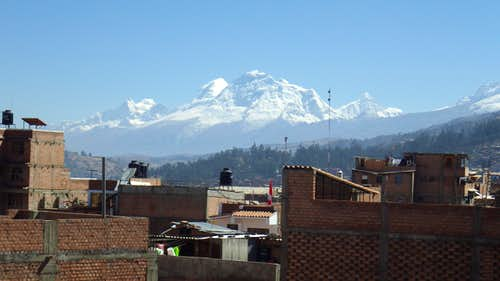 Huascarans and Chopicalqui from Huaraz