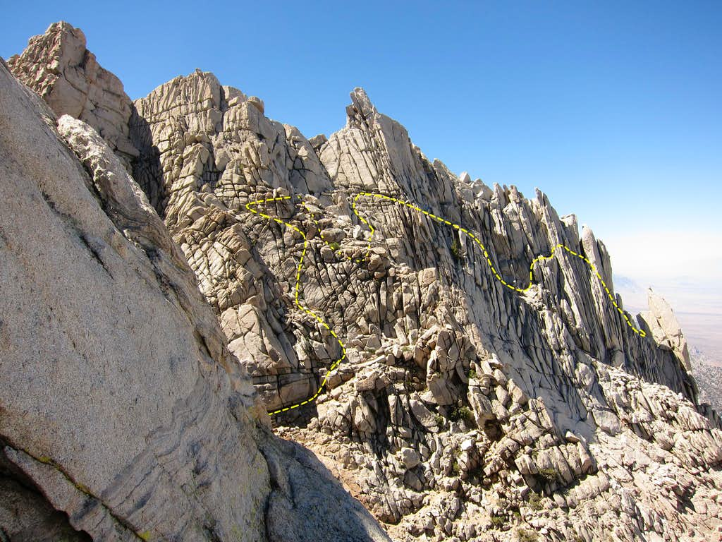 Our Traverse below the Third Tower