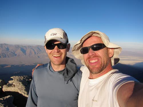 Me and Joe on the Summit of Lone Pine Peak