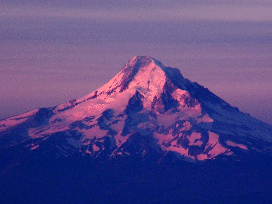 Mt Hood Alpenglow