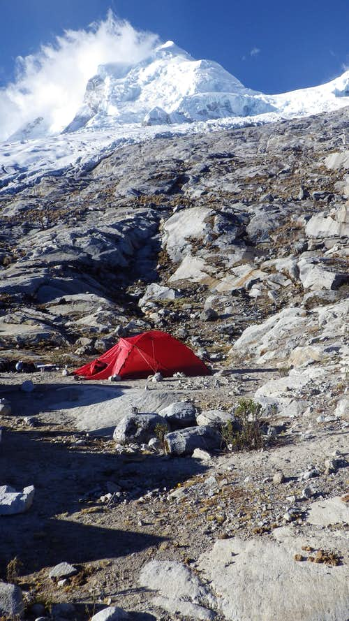 Moraine Camp on Huascaran