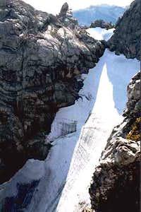 The steep Blaueis-Glacier...