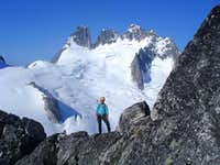 On the traverse before the Gendarme