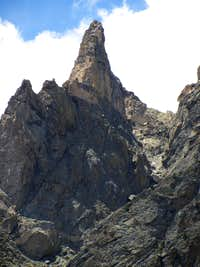 Cool spire below Flattop