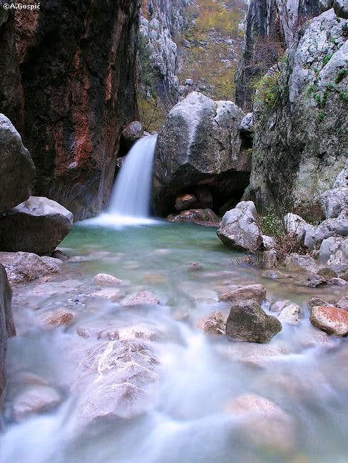 Waterfall in Mala Paklenica