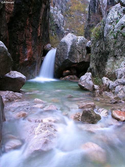 Waterfall in Mala Paklenica