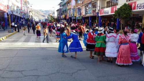 Parade in Huaraz