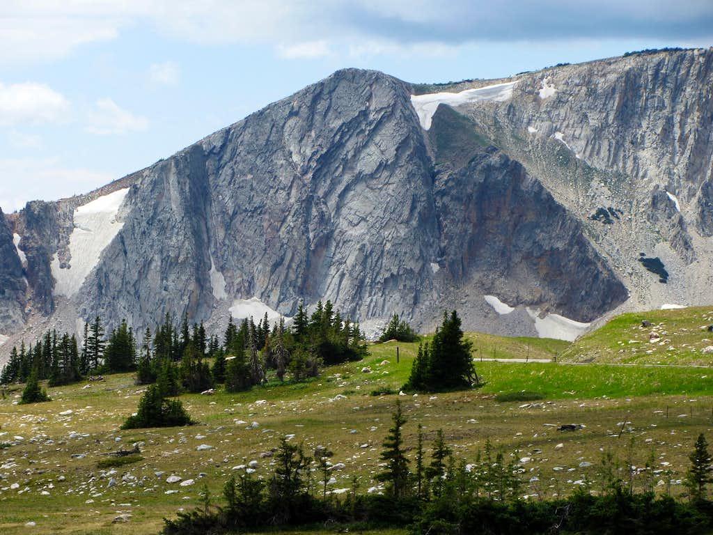 Medicine Bow south ridge cliff