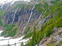 Waterfalls near the Lake