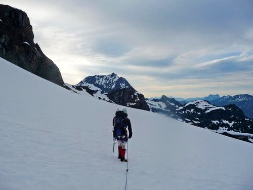 Hiking on the Jerry Glacier
