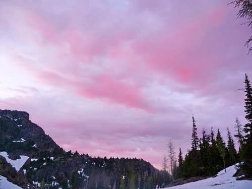 Pink Sky from Camp