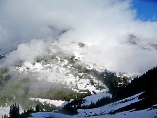 Jack Mountain Covered in Clouds