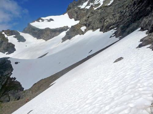 The first Snowfield on Jack Mountain