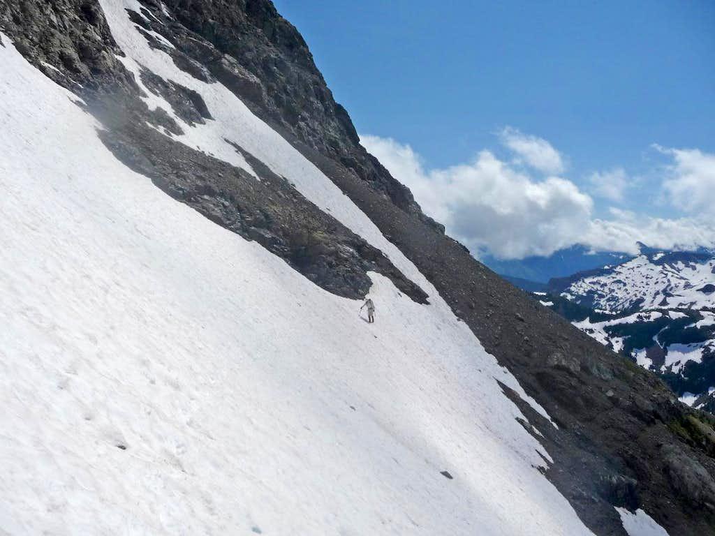 Yem crossing the Snowfield