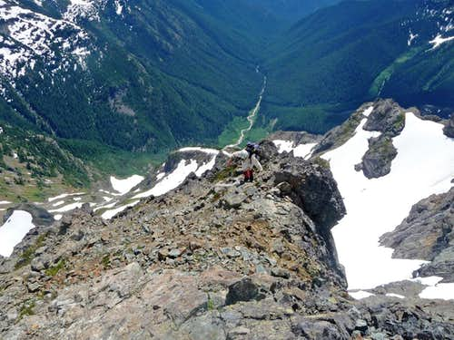 Hiking on the upper Mountain