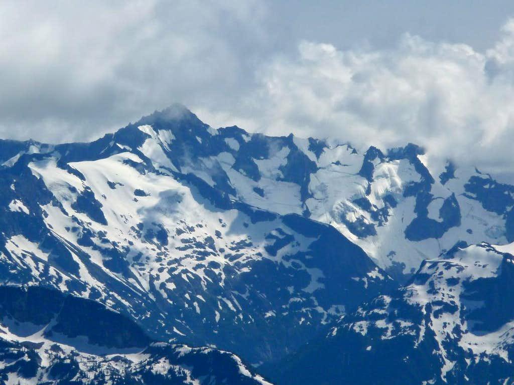 Cloudy Atmosphere over Forbidden Peak