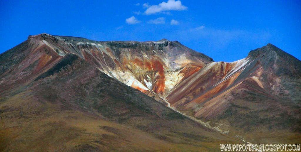 detail, the alien face of Caquella volcano