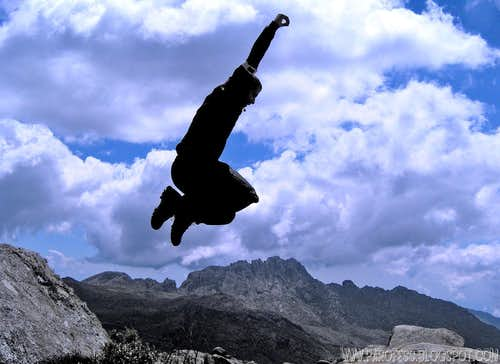 Me jumping on Itatiaia NP