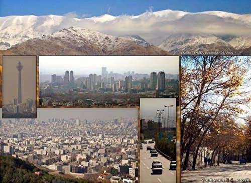 Tehran and Mt. Tochal, Photo...