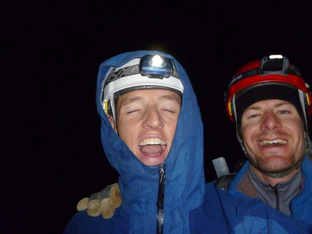Exhausted elation on the summit of Rainier