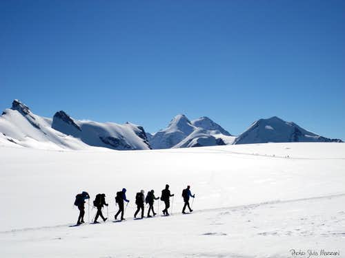 A party on Breithorn Plateau