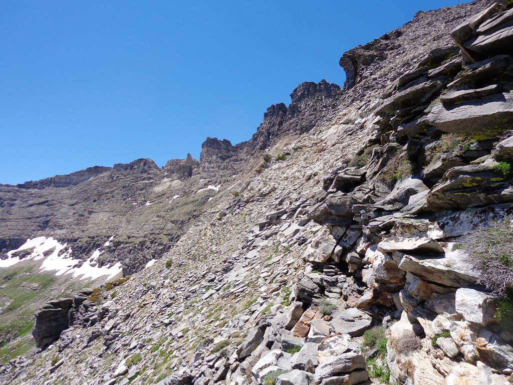 Halfway up from Lizzie's Basin