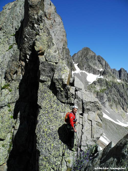 A notch on Index South-East ridge