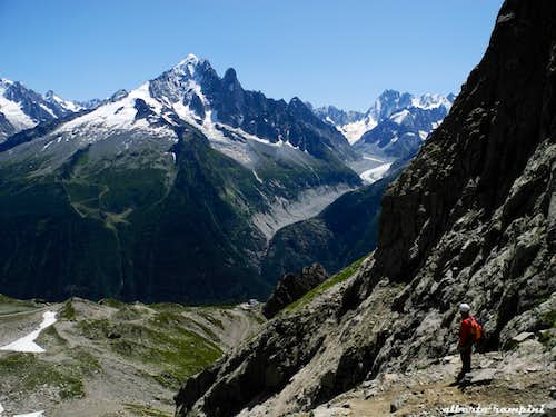 Mont Blanc group seen from Index
